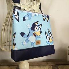 Girls Crossbody Bag - Blue Dog
