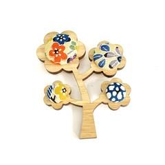 Kimono Tree Brooch -  Florals