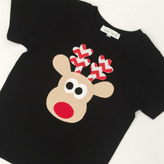 T-shirt - Zany Reindeer - Christmas - Boys - Chevron  - Retro