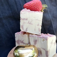 'Have Yourself a Berry Little Christmas' fragrance free Strawberry soap