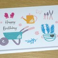 Female Birthday card - spring garden