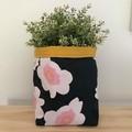 Large fabric planter | Storage basket | Pot cover | CAMELLIAS