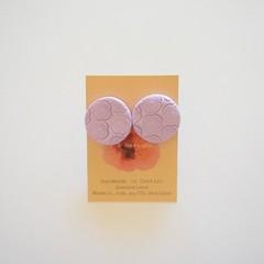 Lilac lrg polymer clay stud earrings