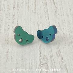 Resin Koala Stud Earrings