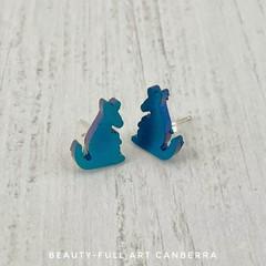 Resin Kangaroo Stud Earrings