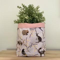 Large fabric planter | Storage basket | Pot cover | AUSTRALIANA