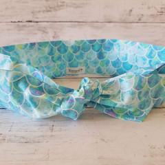 Tie Up Headband / Hair Scarf  / Scarves / Knot Headband / Bandana / Mermaid