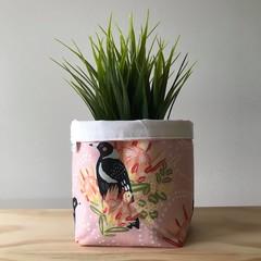 Small fabric planter | Storage basket | Pot cover | MAGPIE