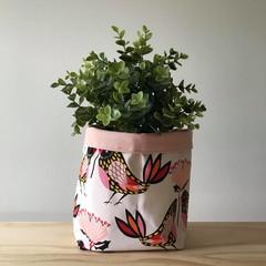 Large fabric planter | Storage basket | Pot cover | BIRDIES