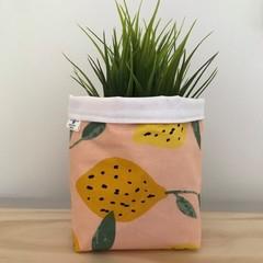 Small fabric planter | Storage basket | Pot cover | PEACHY LEMONS