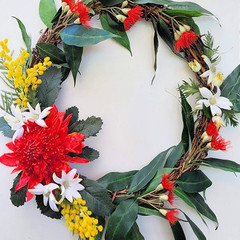 Artificial Australian Native Waratah Wreath - Christmas Gift - Home Decoration