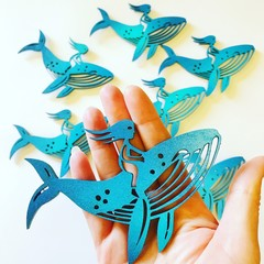 Whale Rider Fridge Magnet