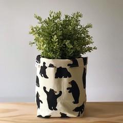 Large fabric planter | Storage basket | Pot cover | BEARS