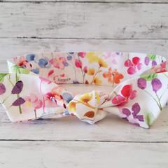 Tie Up Headband / Hair Scarf  / Scarves / Knot Headband / Bandana / Water colour