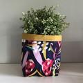 Large fabric planter | Storage basket | Pot cover | NAVY PROTEA
