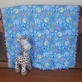 JUNGLE ANIMAL  MINKY PRAM BLANKET