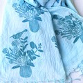 Cotton scarf / soft cotton hand printed and dyed scarf