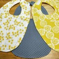 3 piece bib set. Click for more styles.