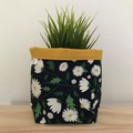 Large fabric planter | Storage basket | Pot cover | DAISIES