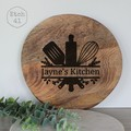 Personalised Round Chunky Acacia Wood Board - See more designs