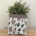 Large fabric planter | Storage basket | Pot cover | LLAMAS