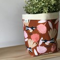 Large fabric planter | Storage basket | Pot cover | WILLY WAGTAIL