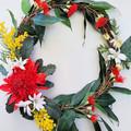 Artificial Australian Native Waratah Wreath - Christmas Gift - Home Decoration