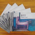 Office #1 greeting card pack x 5