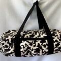 Black with White Birds Duffel Bag