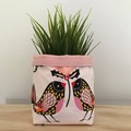 Small fabric planter | Storage basket | Pot cover | BIRDIES