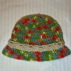 Multicolour baby bucket hat