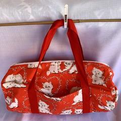 Red Kitten Duffel Bag