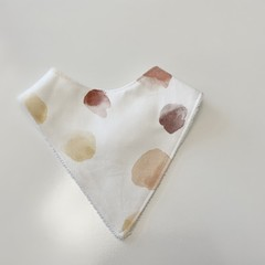 Earth in watercolour Bandana bib