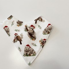 Australiana animals Christmas edition Bandana bib
