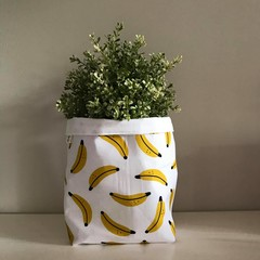 Large fabric planter | Storage basket | Pot cover | BANANAS