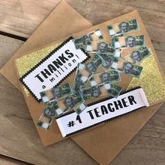 Thanks a million #1 Teacher card