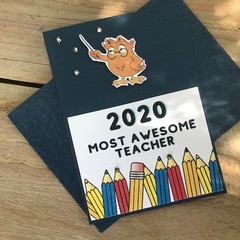 2020 Most Awesome Teacher card