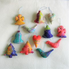 12 Beautiful Felted Christmas Decorations #53