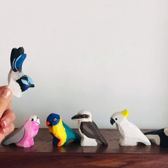 Australian birds wooden toys made in Australia
