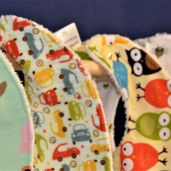 Large Bib, Bamboo Terry  & 100% Cotton Print Fabric