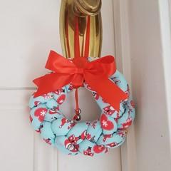 Braided Christmas Doorknob Wreath - North Pole