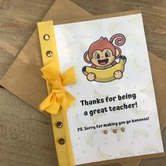 Thanks for being a great teacher card (Bananas)