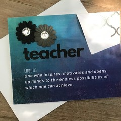 The meaning of teacher - Thank you card (blue)