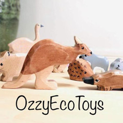 Australian wildlife 7 piece animal set wooden eco friendly toys