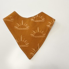 Terracotta sunset Bandana bib