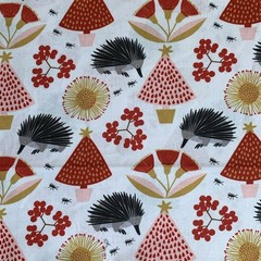 Australian Animals themed Christmas Bunting - Echidna