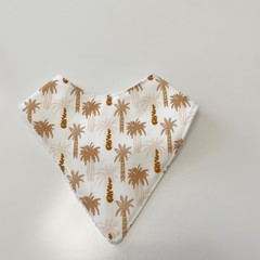 Earthy palm tree Bandana bib