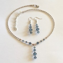 Swarovski Crystal Earring & Necklace Set: Linnea & Landon