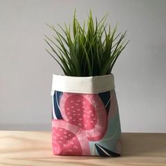 Small fabric planter | Storage basket | Pot cover | GUM BLOSSOM