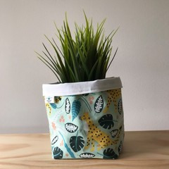 Small fabric planter | Storage basket | Pot cover | LEOPARDS